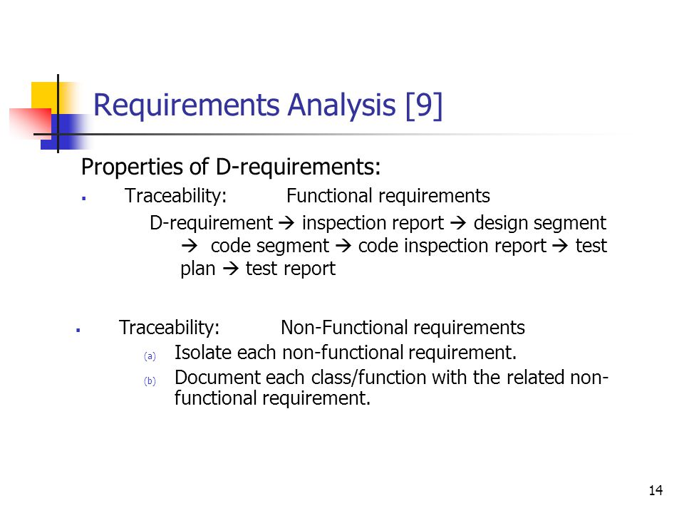 Requirements Analysis [8]